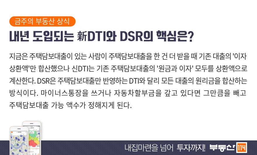 내년 도입되는 新DTI와 DSR의 핵심은?
