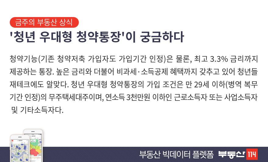 `청년 우대형 청약통장`이 궁금하다